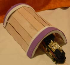 Craft Stick Projects For Kids Toy Train Tunnel Project